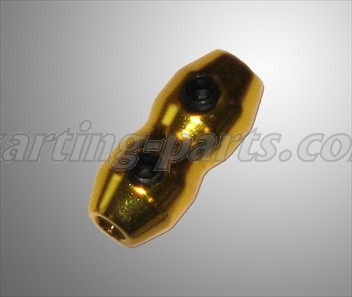 Cable clamp alu gold
