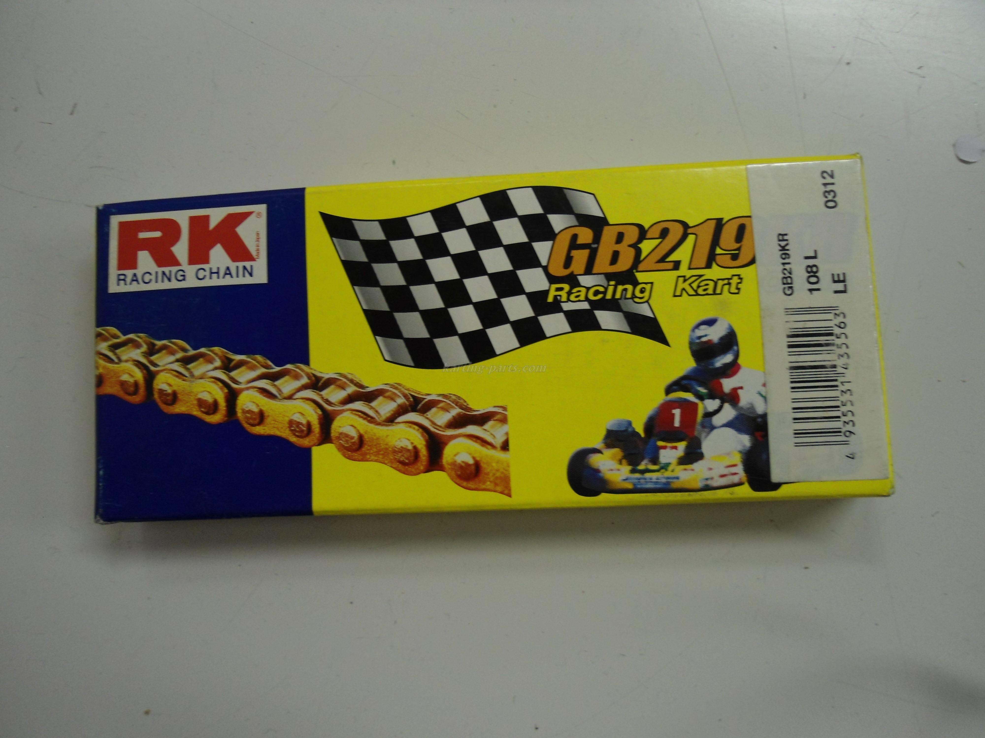 RK 219 karting GD/BL chain 108L