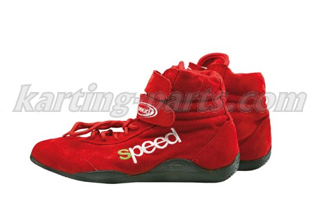 Speed karting shoes red