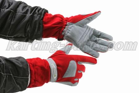 Speed karting gloves red