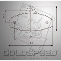 Birel Brake pads GOLDSPEED  (510)
