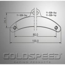 Birel Brake pads GOLDSPEED (529)
