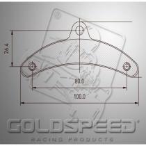Birel Brake pads GOLDSPEED 14185 (549)