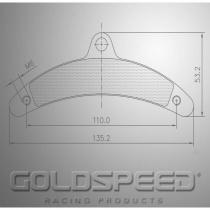 Birel Brake pads GOLDSPEED  (568)