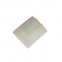 Self adhesive square nylon base with clip Ø5mm,19x10mm 10pcs