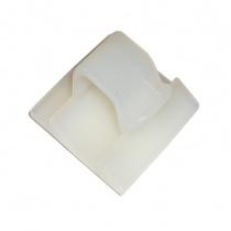 Self adhesive square nylon base with clip Ø10mm, 26x13mm 10pcs