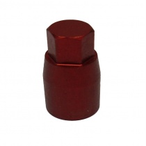 Cylindrical nut M8, EXAGONE 10mm, in red anodized aluminium