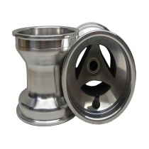 Set Front Wheels 130mm Alu ventilated (with Ø17mm bearings)