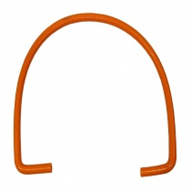 Silicone Pipe with bend 90° for water radiator (1200mm)  orange