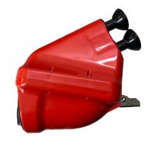 Intace silencer ACTIVE Noise  red tubes Ø23mm , CIK/FIA 28/SA/24