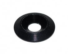 Aluminium countersunk washer 6x18mm black